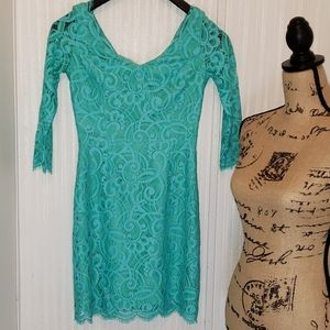 Lilly Pulitzer Blue & Green Dress Mini Size 00